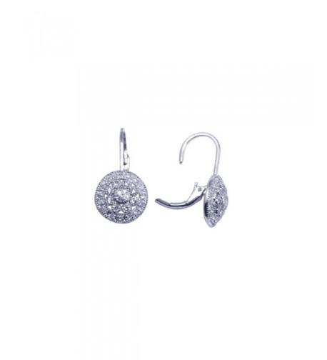 Sterling Rhodium Vintage Cluster Earrings