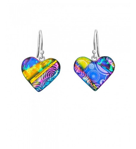 DreamGlass Sterling Dichroic Multi Color Earrings