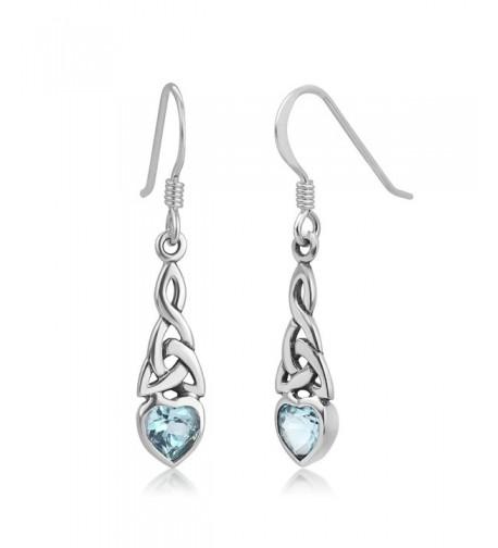 Sterling Silver Celtic Gemstone Earrings