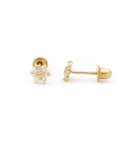 Yellow Gold Little Flower Earrings