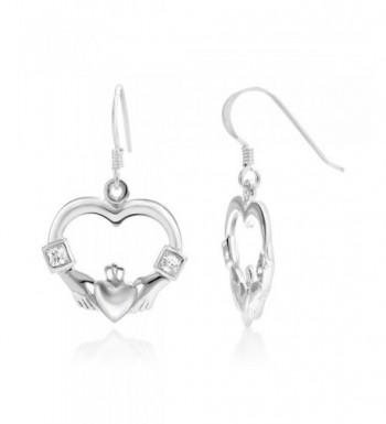 Sterling Silver Claddagh Friendship Earrings