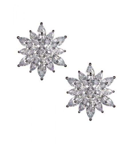 Starburst Brilliant Marquise Crystals Earrings