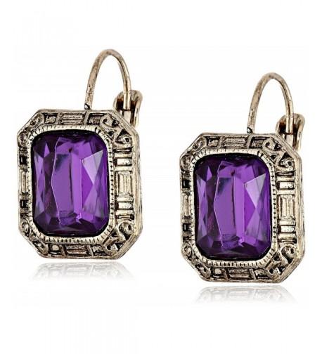 1928 Jewelry Siberian Gold Tone Amethyst