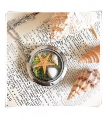 sea maiden Moss Starfish Necklace Nautical