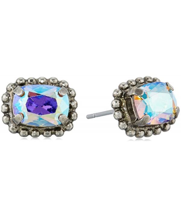 Sorrelli Rainbow Emerald Embellished Earrings