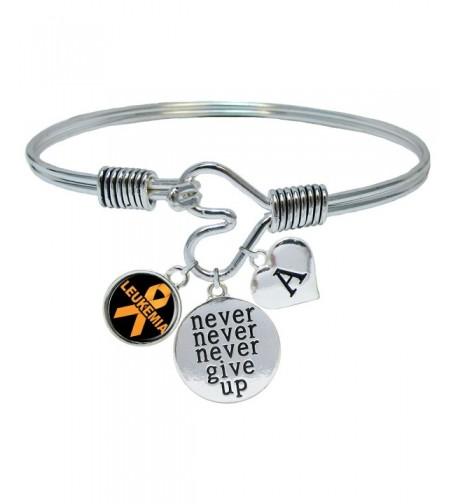 Custom Leukemia Awareness Bracelet Initial