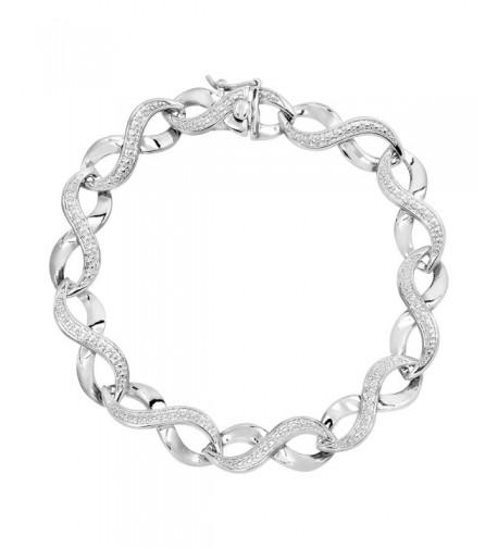 Infinity Bracelet Diamond Sterling Silver Plated