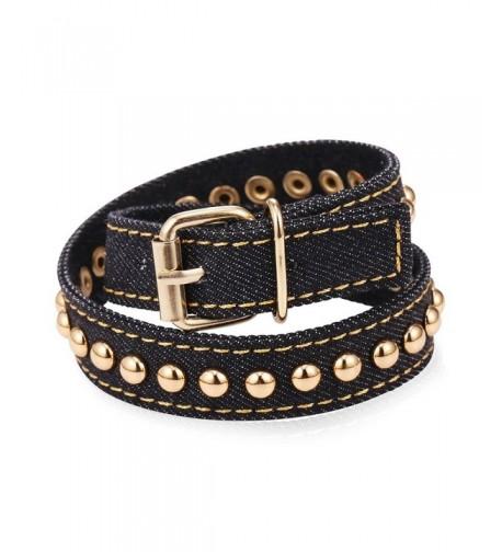Pushpin Design Fabric Gold tone Bracelet
