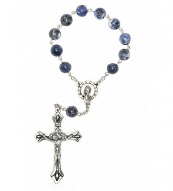 Decade Pocket Rosary Sodalite Gemstones