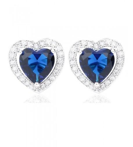 VWU Zirconia Teardrop Pierced Earrings