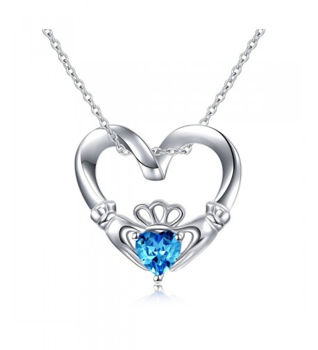 Sterling Claddagh Pendant Necklace claddagh