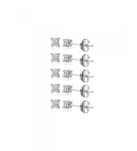 Sterling Silver Earrings Small Zirconia