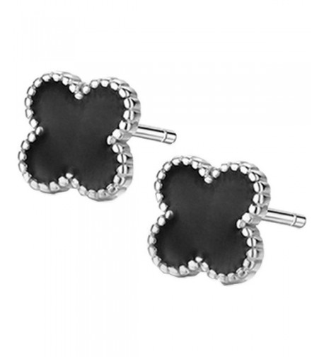 Sterling Silver Plated Clover Earrings