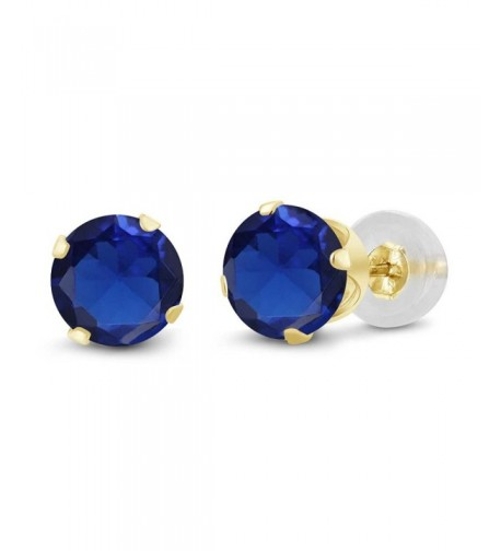 Simulated Sapphire Yellow Womens Earrings
