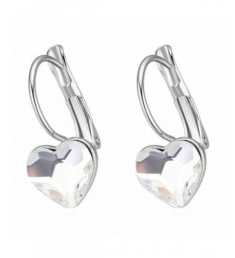 Jewistic Rhodium Plated Earrings Swarovski Elements