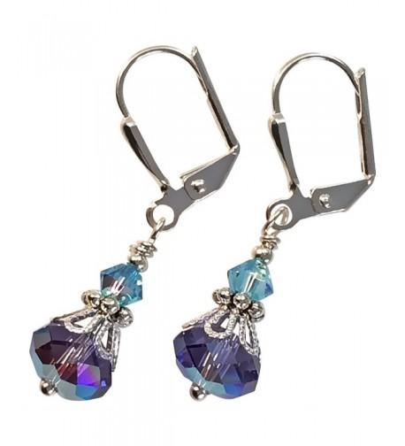 Violet Crystal Vintage Inspired Earrings