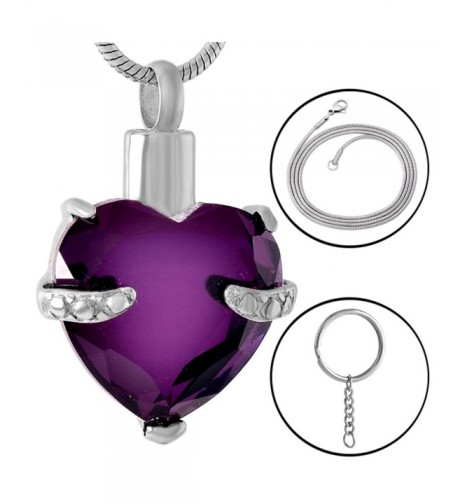 Cremation Jewellery Pendant Keepsake Purple