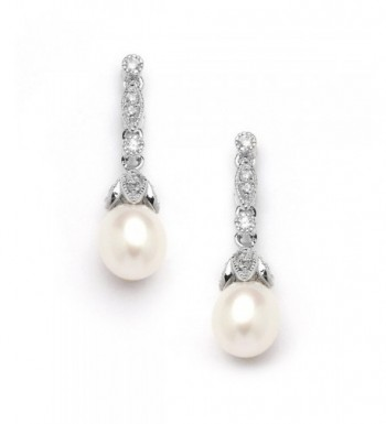Mariell Genuine Freshwater Pearl Earrings