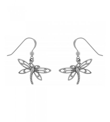 Jewelry Trends Sterling Dragonfly Earrings