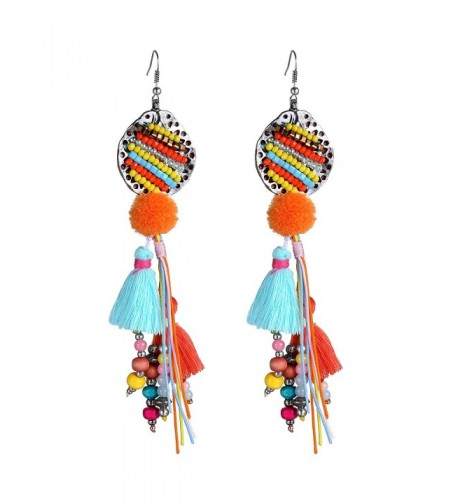eManco Bohemian Multicolor Earrings Handmade