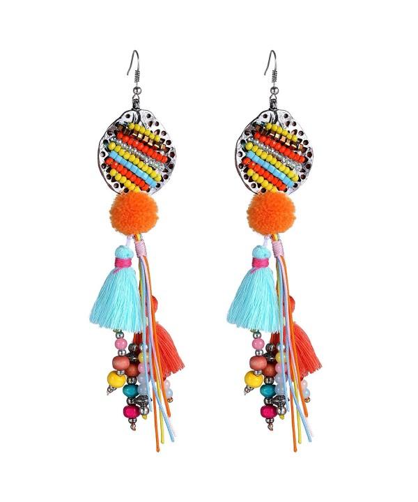 eManco Bohemian Multicolor Earrings Handmade