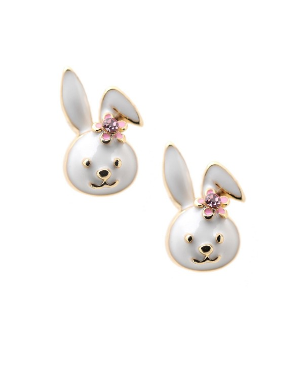 Spinningdaisy Plated Little Smiling Earrings