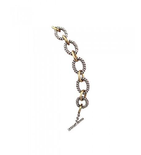 Designer Inspired Yellow Twisted Bracelet