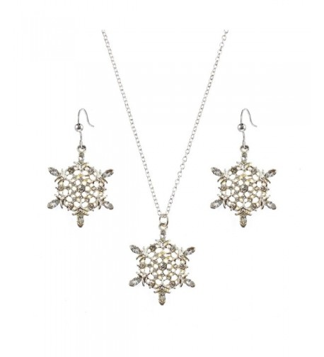 Holiday Lane Silver Tone Snowflake Necklace