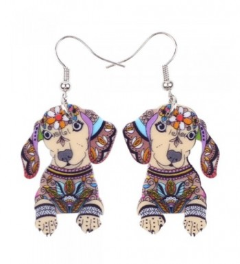Acrylic Dachshund Earrings Design Lovely