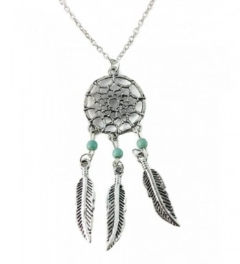 Dastan Dangling Feather Necklace Bohemia