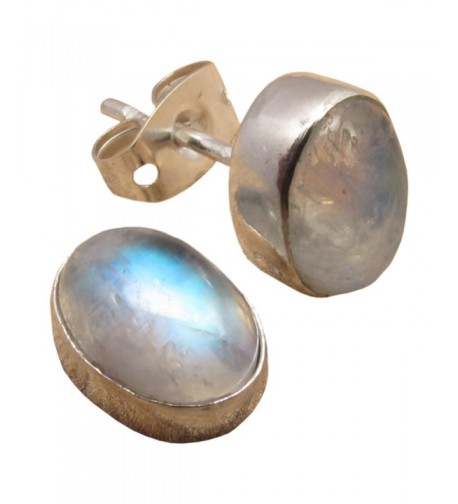 WOMENS EARRINGS Natural RAINBOW MOONSTONE