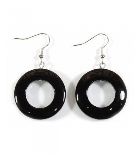 Onyx Black Earrings Dangle Inches
