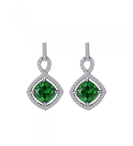 Caperci Sterling Cushion Infinity Earrings