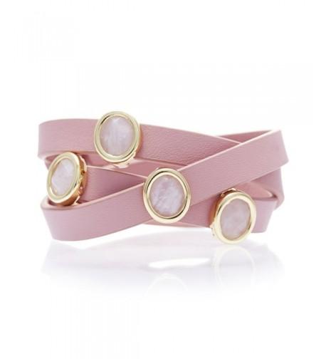 Lulu Dharma Gemstone Leather Bracelet