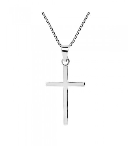 Simple Christian Sterling Pendant Necklace