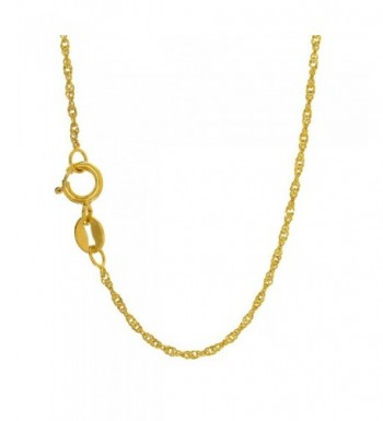 JewelStop Yellow Singapore Necklace Spring
