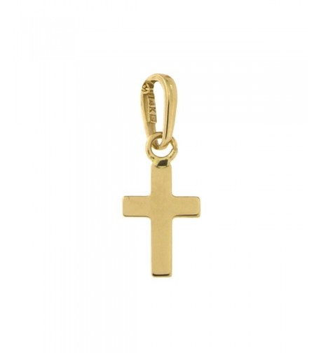 Yellow Gold Tiny Cross Pendant