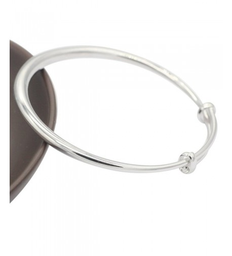 Adjustable Filled Silver Expandable Bracelet