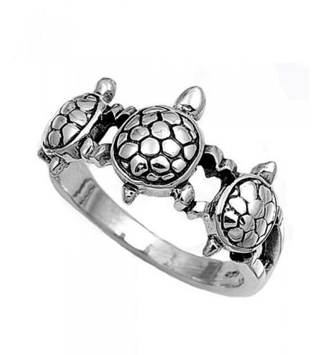 Sterling Silver Womens Turtle Fashion