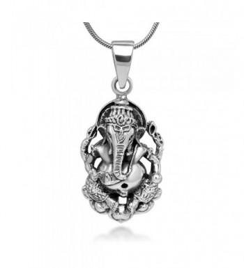Sterling Ganesha Elephant Fortune Necklace