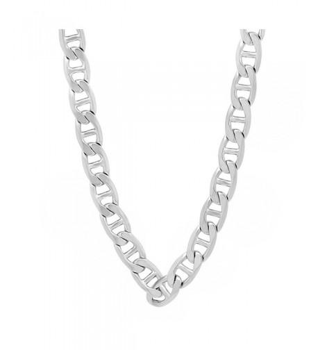 Rhodium Mariner Necklace Microfiber Polishing