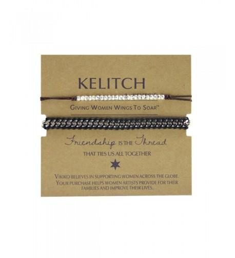 KELITCH Leather Bracelets Handmade Fashion