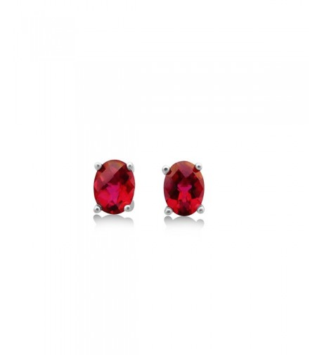 Peony Red Topaz Stud Earrings