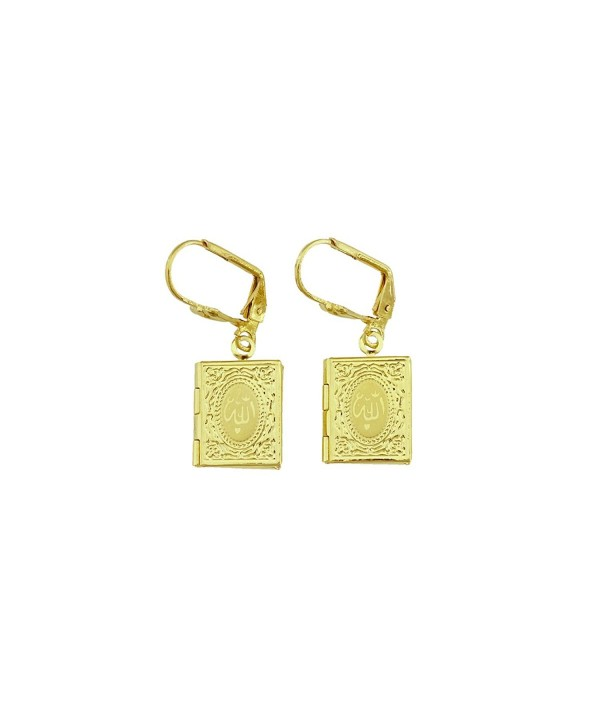Passage Plated Islamic Pendant Earrings