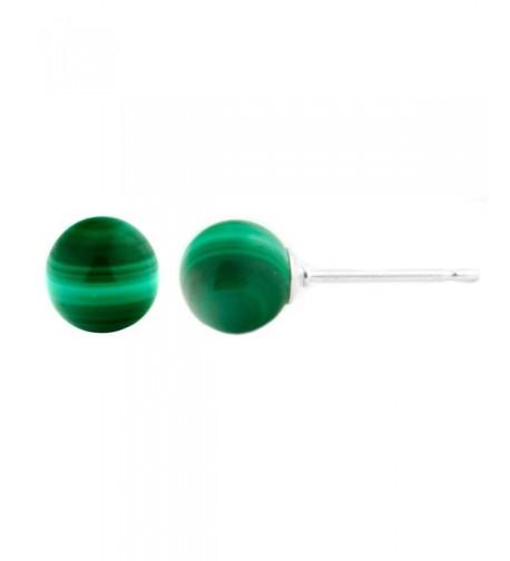 Trustmark Sterling Natural Malachite Earrings
