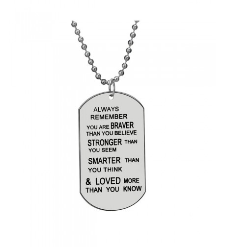 Remember Believe Jewelry Necklace Inspirational