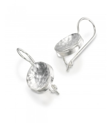 Graceful Sterling Silver Earrings Hammered