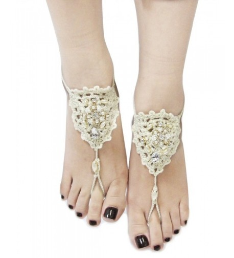 Bohemian Crochet Barefoot Sandals Option