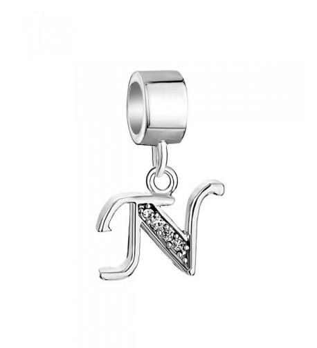 Locket Sterling Alphabet Initial Bracelet