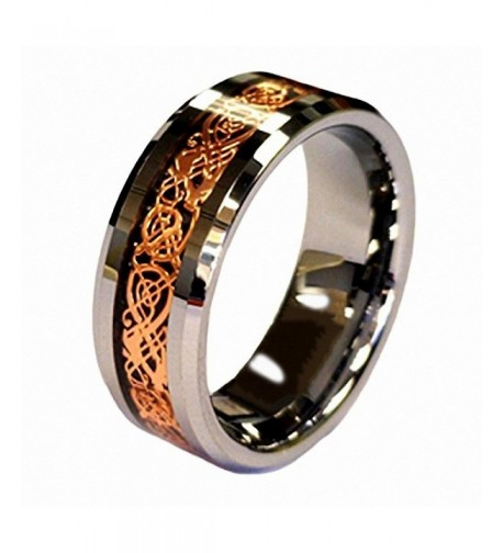 Plated Celtic Tungsten Carbide Wedding